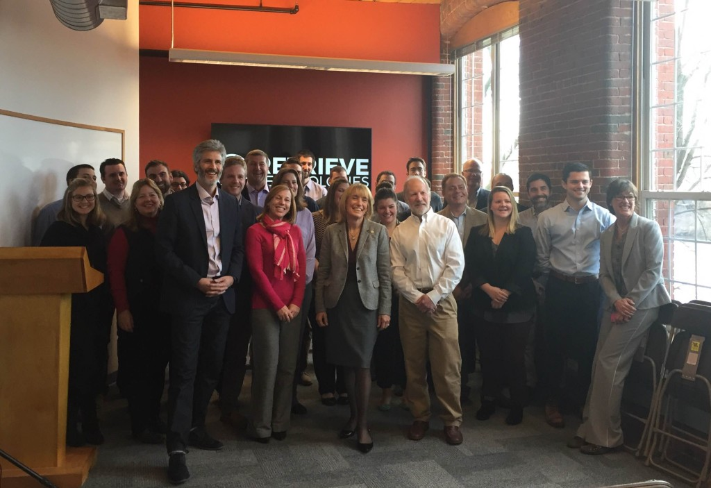 Ribbon cutting ceremony at new Manchester office
